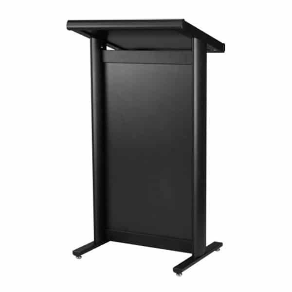 black lectern for corporate events