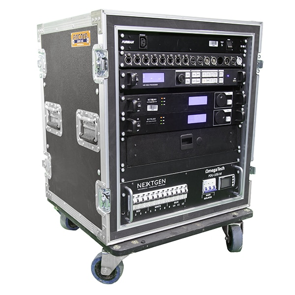 Large LED Screen production rack